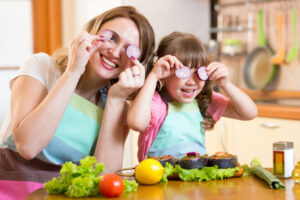 przedszkolak i warzywa